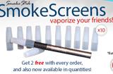 Smoke Stik: Smoke Screens: Get 2 Free Every Order