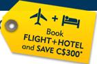 Expedia: C$300 Off Hotel + Flight