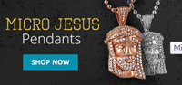Hip Hop Bling: Save On Micro Jesus Pendants