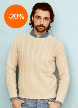 Soft Goat: Men's Cable Knit Wear From $196