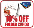 PGprint: 10% Off Folded Cards