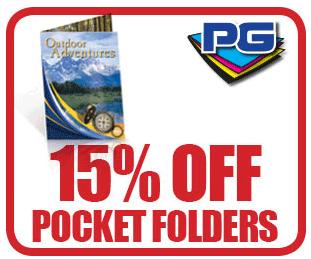PGprint: 15% Off Pocket Folders