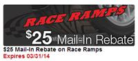 StreetSideAuto: $25 Mail-In Rebate On Race Ramps