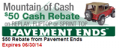 StreetSideAuto: $50 Rebate From Pavement Ends