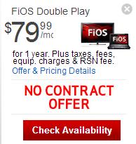 Verizon Fios: Verizon FiOS Select TV + FiOS Internet + Phone Triple Play Promotion For $79.99/mo