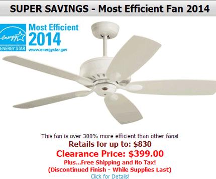 Hansen Wholesale: 52% Off  Most Efficient Fan 2014