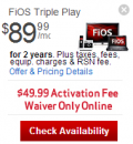 Verizon Fios: Verizon FiOS Triple Play TV + FiOS Internet + Phone - $89.99/mo