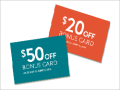 Sunglass Hut: Redem $20 - $50 Sunglass Hut Bonus Cards