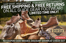The Sportsman's Guide: Free Shipping & Free Returns On All Guide Gear Footwear