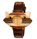Maxwells Attic: 83% Off Wood & Genuine Leather Unisex Watches By Shivas