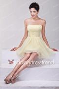 WeddingDressTrend: 18% Off Pretty A-Line Ruched Mini Short Bridesmaid Dress