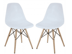 PolyandBark: $62 Off Eames Style Molded Plastic Dowel-Leg Side Chair
