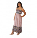 Wholesale Fashion Deals Online: Long Two Print Maxi Dress