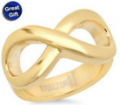Mobstub: 18kt Rose Gold Yellow Gold Or Stainless Steel Infinity Ring
