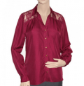 Wholesale Fashion Deals Online: Lace Shirt - Wine