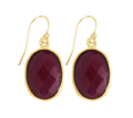 Sacred Jewels: $100 Off Ruby Gemstone Oval Earrings