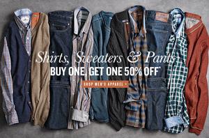 Johnston & Murphy: Buy 1 Get 1 50% Off Men's Apparel