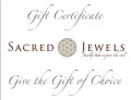 Sacred Jewels: Sacred Jewels Gift Certificate