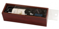 Manos Wine: Rosewood Wine Box With Acrylic Lid