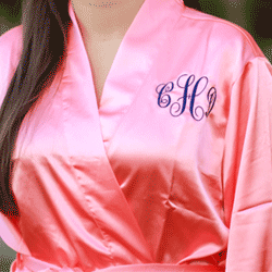 Heritage Wedding: Personalized SATIN Bridal Robes Silk Bridesmaid