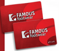 Famous Footwear: Gift Cards & E-Gift Cards From $25