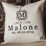 Heritage Wedding: Shop For Personalized Pillow