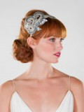 Preston And Olivia: SILVER SEQUIN PAISLEY HEADBAND