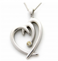 Rush Industries: Jeweled Heart Shaped Pendant At Just $25.95