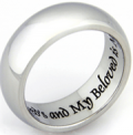 Rush Industries: I Am My Beloved And My Beloved Is Mine Ring At Just $22.95