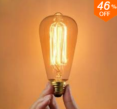 Banggood Edison Bulbs: 46% Off  + Free Shipping