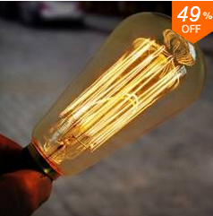 Banggood Edison Bulbs: 49% Off  + Free Shipping