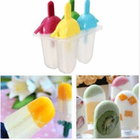 Banggood Popsicle Molds: DIY Flat Popsicle Molds With Straw Ice Cream Maker For $4.29