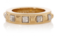 Karen Millen: Square Crystal Stud Ring For $29