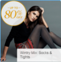 Gilt: 80% Off Wintery Mix Socks & Tights