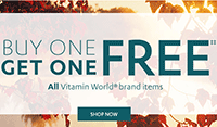 Vitamin World: Buy 1 Get 1 Free + Free Shipping