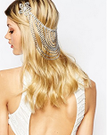 Asos: Love Rocks Flower & Rhinestone Hair Drape
