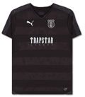 Slam Jam Socialism: Puma Trapstar Football Kit T-Shirt Black For  £67.5