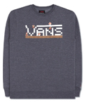 Slam Jam Socialism: Vans Nintendo Super Mario Crewneck Sweatshirt Charcoal For £52.5