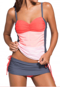 Lulugal: 62% Off Spaghetti Strap Top And Grey Pantskirt Swimwear Set