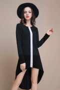 Chicuu: 15% Off Contrast Vertical Irregular Long Sleeve Dress