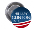 American Flags: 13% Off Vote Hillary Clinton Campaign Button
