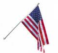 American Flags: 21% Off Premium Spinning Pole US Flag Set