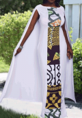 Lulugal: 70% Off Cloak Design Round Neck Maxi Dress