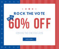 Rose Gal: 60% Off Rock The Vote