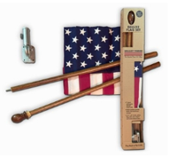 American Flags: 30% Off Deluxe Boxed U.S. Flag Kit With Mahogany Pole