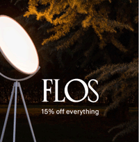 Clippings: 15% Off Flos