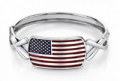 American Flags: 13% Off American Flag Bangle Bracelet With Awareness Ribbons
