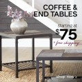 Ashley Homestore: Coffee & End Tables Starting At $75
