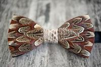 Brackish BowTies: Pheasant W/ Snakeskin Tie Only $195