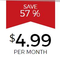Hide My Ass: $4.99 Per Month